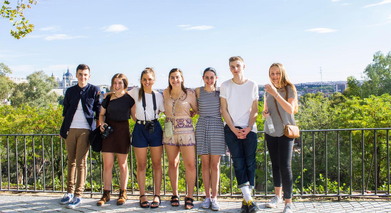 Estudiantes extranjero en casa. Madrid