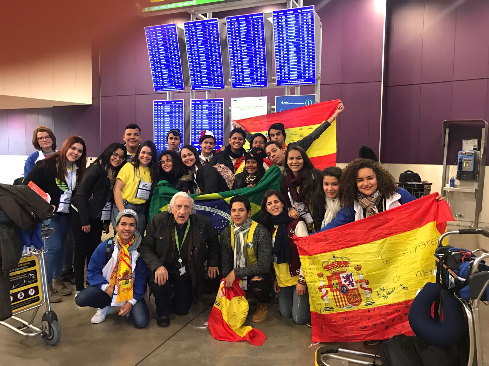 Estudiantes extranjero en casa